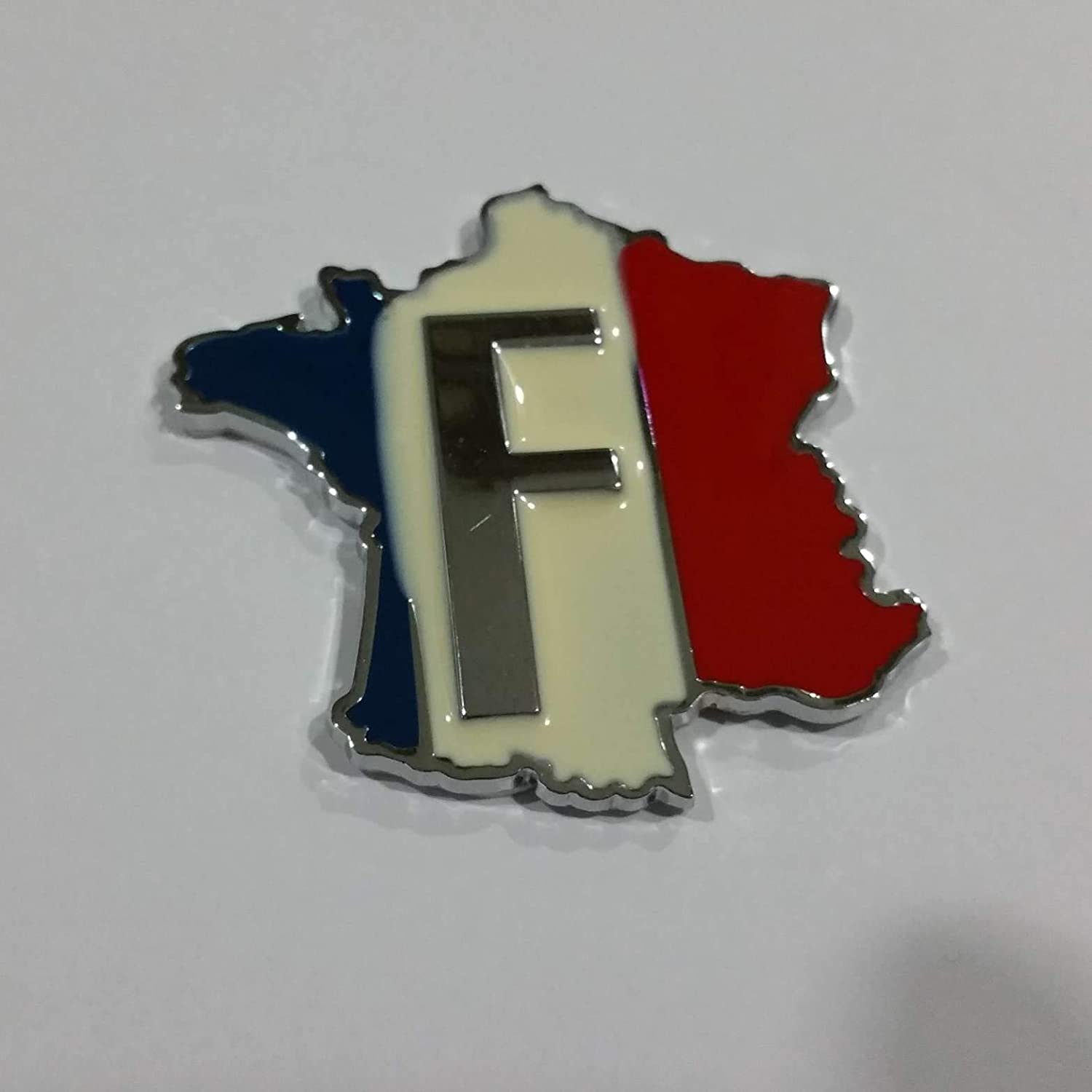 1 Piece SAISDON France Flag Union Jack Hq Metal Chrome Car Badge Sticker Decal Emblem Trunk Side Logo Auto 3D Adhesive Die Cast Zinc Alloy 2061