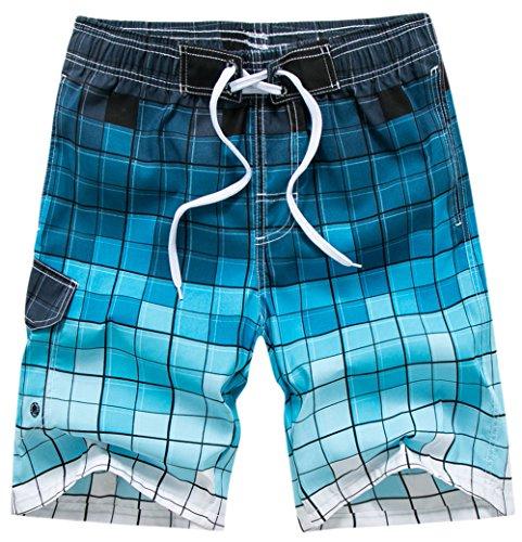 Werherro Men's Swim Trunks Quick Dry Fashion Beach Board Shorts with Mesh (Guys Swim Trunks)