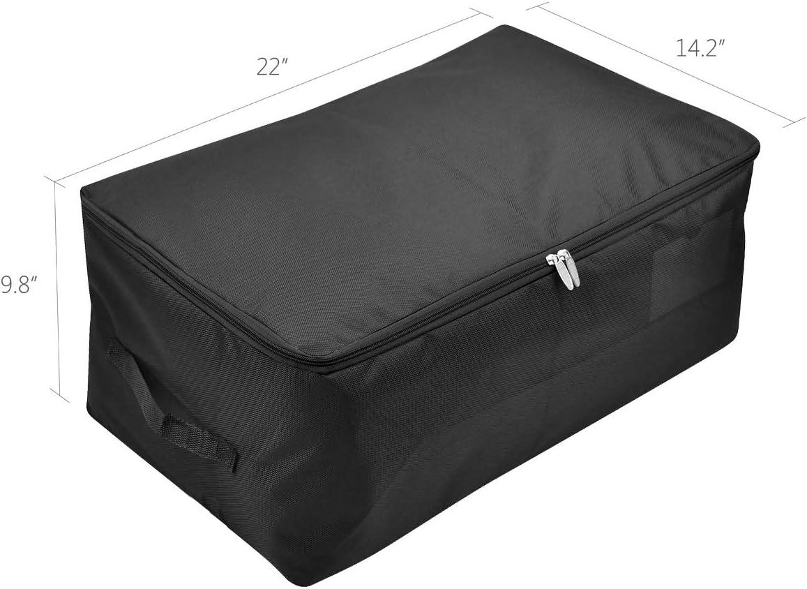 caja de almacenamiento a prueba de polillas con cremallera abrigos ropa de invierno buena para su/éteres chaquetas de plumas marr/ón Bolsa de almacenamiento suave para guardarropas