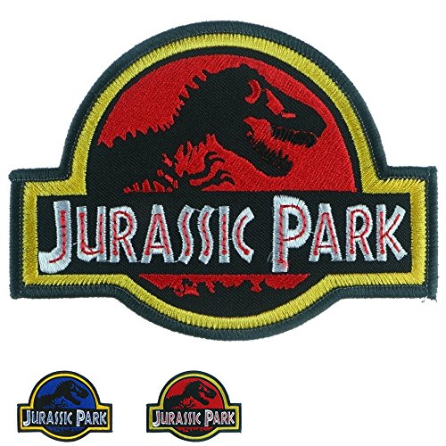 Iron Sew On Applique Patch : The Jurassic Park (Red) -