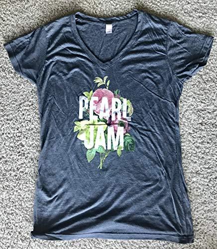 Pearl Jam ladies t shirt 2018 tour medium v neck grey boston chicago seattle new by Inkster Sports