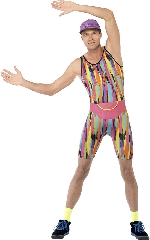 Mr Energizer Costume Mens Mr Instructor Fancy Dress Aerobics Smiffys Adult