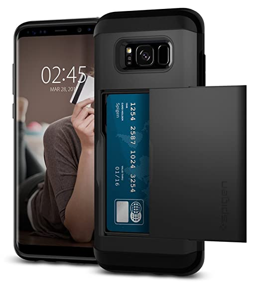 finest selection 9f478 26fe8 Spigen Slim Armor CS Designed for Samsung Galaxy S8 Plus Case (2017) - Black