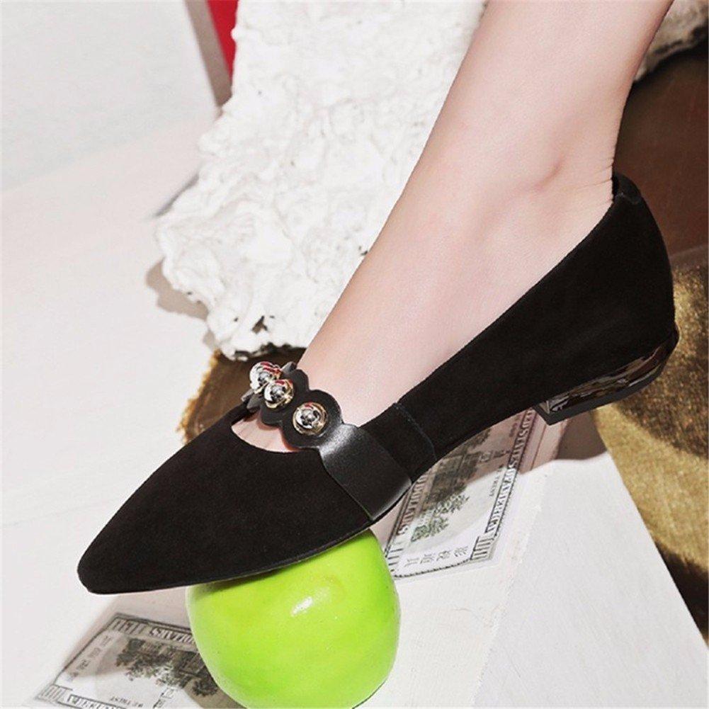 YUCH Damens's Single Schuhe Casual Flache Unterseite Komfortable Füße und und Füße Schuhe schwarz 5240c9