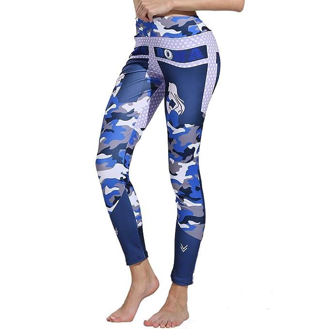 e122335794 ❤ Leggings de Yoga de Las Mujeres de impresión de Camuflaje