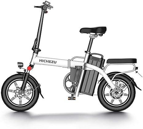 LIUJIE Bicicleta eléctrica retráctil, Bicicleta eléctrica de 350 W ...