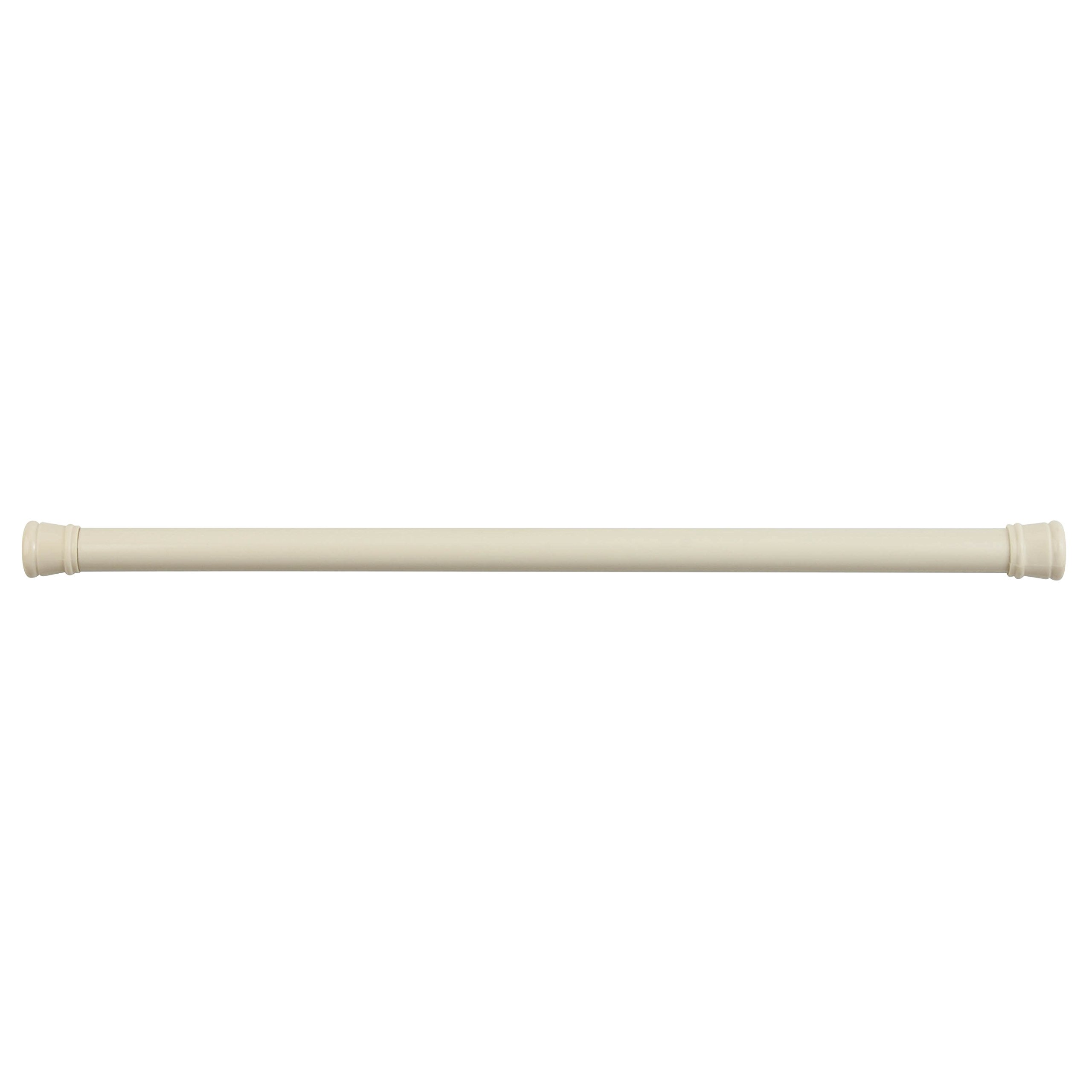 Honey-Can-Do 40'' Bathroom Tension Rod Extends from 23'' to 40'', 23'' Length x 1'' Width x 1'' Height, Beige