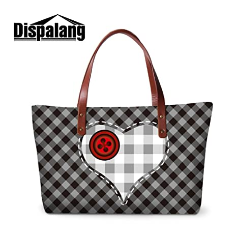afa99cf01fd1 Image Unavailable. Image not available for. Color  Generic Plaind Printed  Series Large Capacity Shoulder HandBags for Women Girls Cute Tote ...