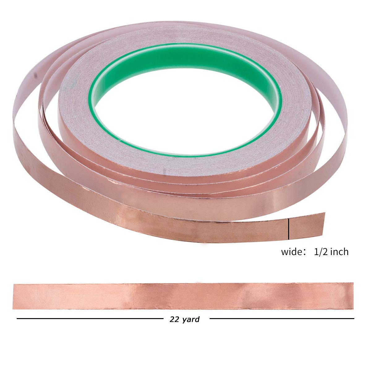Stained Glass Paper Circuits 1//4inch X 22yards Vasdoo Copper Foil Tape with Conductive Adhesive for EMI Shielding Grounding Electrical Repairs