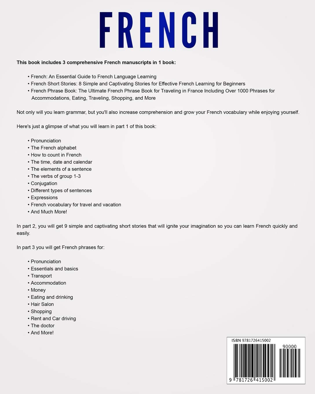 French: Learn French For Beginners Including French Grammar