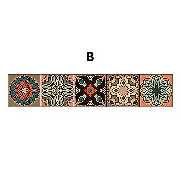 IShine Tile Aufkleber Im Marokkanischen Stil Mode Fliesenaufkleber Stickers  Kreative Wandtattoos Aufkleber Wandaufkleber Wandkleber Selbstklebend  Collage