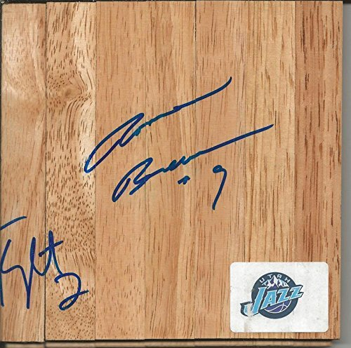 Ronnie Brewer Signed Floorboard Bulls Arkansas Jazz + 1 - Autographed NBA Floor Boards ()