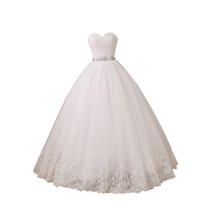 Amazon.com: YIPEISHA Vestido de novia de tul vestidos de ...