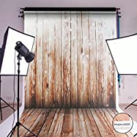 MOHOO 5x7ft Cotton Polyster Photography Background Nostalgia Wood Floor Pattern Collapsible and Washable Backdrop Studio Props (Updated Material)No Wrinkle 1.5mx2.1m