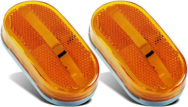 """4 COMMAND 2/""""X4/"""" AMBER LENSES ONLY NEW OLD STOCK CAMPER TRAILER RV"""