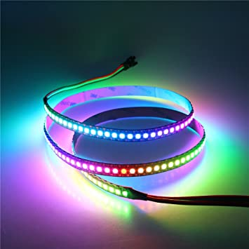 Amazon alitove 32ft 144 pixels ws2812b individually alitove 32ft 144 pixels ws2812b individually addressable led strip light 5050 rgb dream color programmable aloadofball Image collections