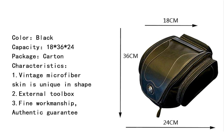 WildBee Motorcycle Retro Back Seat Bag Multi-Functional Kit Waterproof Leather Tail Bag
