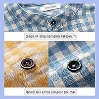 35049e323630 Boys' Button Down Shirt Long Sleeve Plaid Cotton Crew-Neck Dress ...