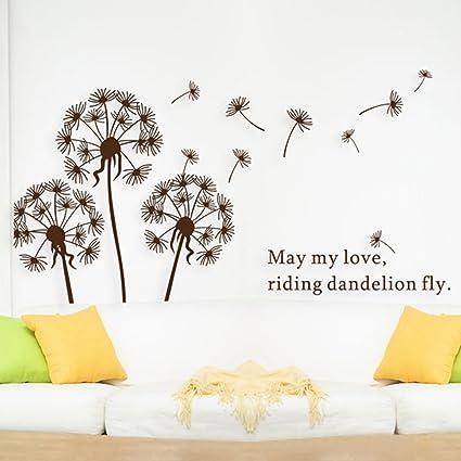 Dandelion Wall Decal, Wall Stickers Dandelion Art Decor- Vinyl Large ...