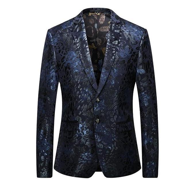 Amazon.com: Vestido floral Casual Blazers para hombre Trajes ...
