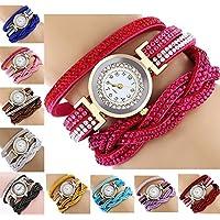 CdyBox Fashion Rhinestone Watch Twine Bracelet Women Luxury Quartz Wrist Watches...