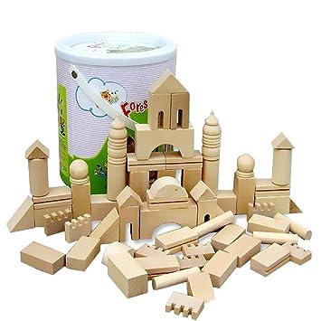 De Construcciones 3d Bloques Modelo Castillo Gazechimp Madera 1cluTF3KJ