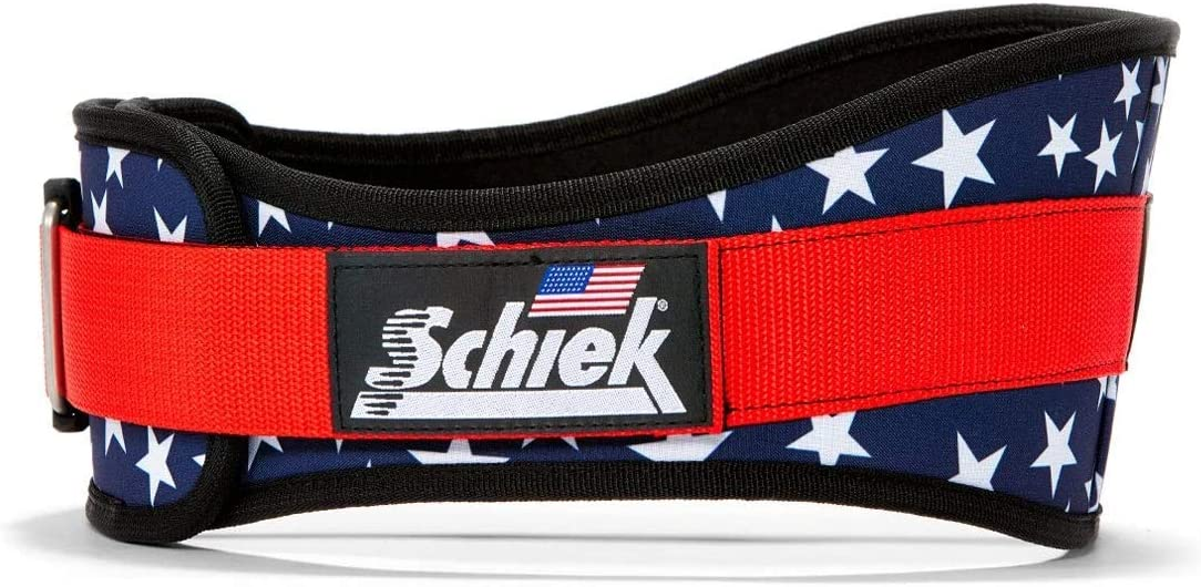 Schiek 2006 Nylon Stars n Stripes Weight Lifting Belt Made In USA Bodybuilding