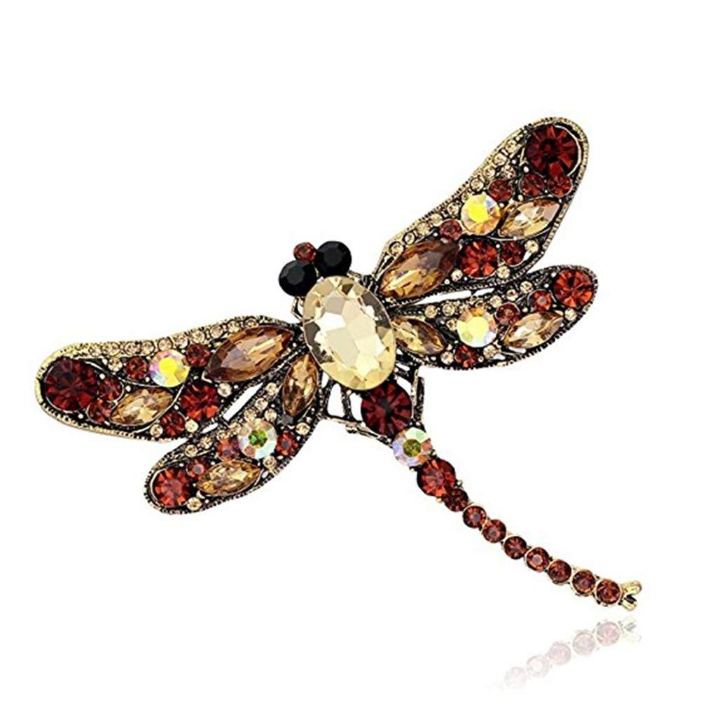 JoyFan Cristal Rhinestone Libellule Broche Bijoux Cadeaux danniversaire