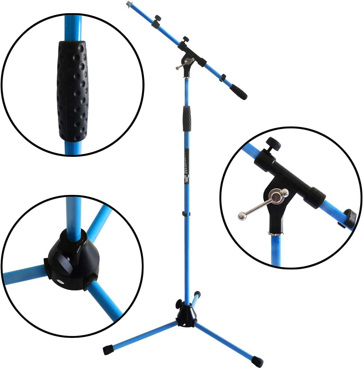 universal Mikrofonklemme keepdrum MS106 GR Gr/ün Mikrofonst/änder Mikrofonstativ mit Galgen u Metall-Sockel