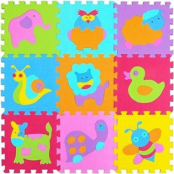9PCS Cartoon EVA Foam Soft Puzzle Mat Children Baby Playmats Crawling Carpet Mat