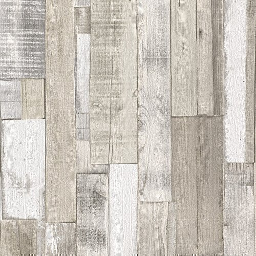 Rasch Authentic Wood Wooden Beam Panels Embossed Textured Wallpaper Beige Blue 203714 By