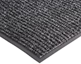 "NoTrax 109 Brush Step Entrance Mat, for Lobbies and Indoor Entranceways, 3' Width x 10' Length x 3/8"" Thickness, Charcoal"