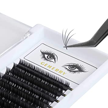 e6c9c14822f GEMERRY Volume Lash Extensions, D Curl 0.07mm 8-14mm Mix Premade Volume Eye