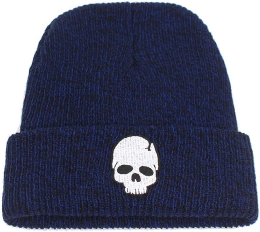 JKFXMN Winter Skullies Beanies Sombrero De Punto Hombres Sombreros De Invierno para Mujeres Moda Bonnet Soft Skull Beanie Sombreros Gorra Azul