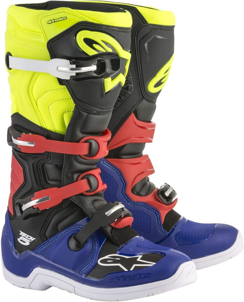 Alpinestars Unisex-Adult Tech 5 Boots White//Black, Size 5