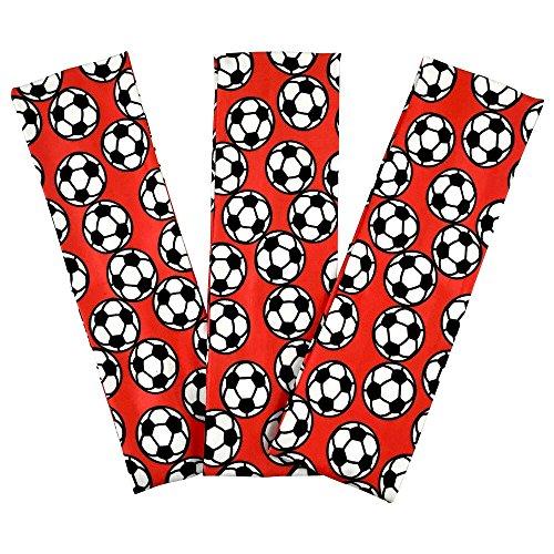Silky Headband Wide (Soccer Stretch Headbands - (3 Pack) for Women, Teens, Kids - 2.25