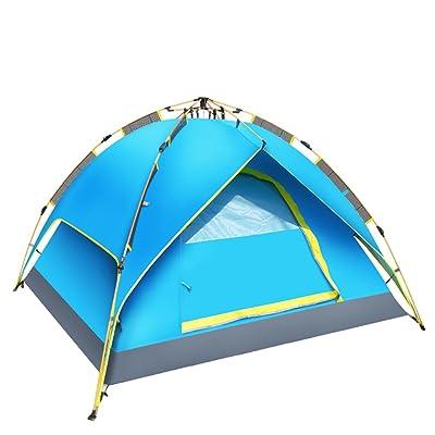 Tente de cabine rapide - étanche, ventilée et durable - peut être utilisée en bleu, vert - camping parfait, randonnée, plage et courts séjours de week-end