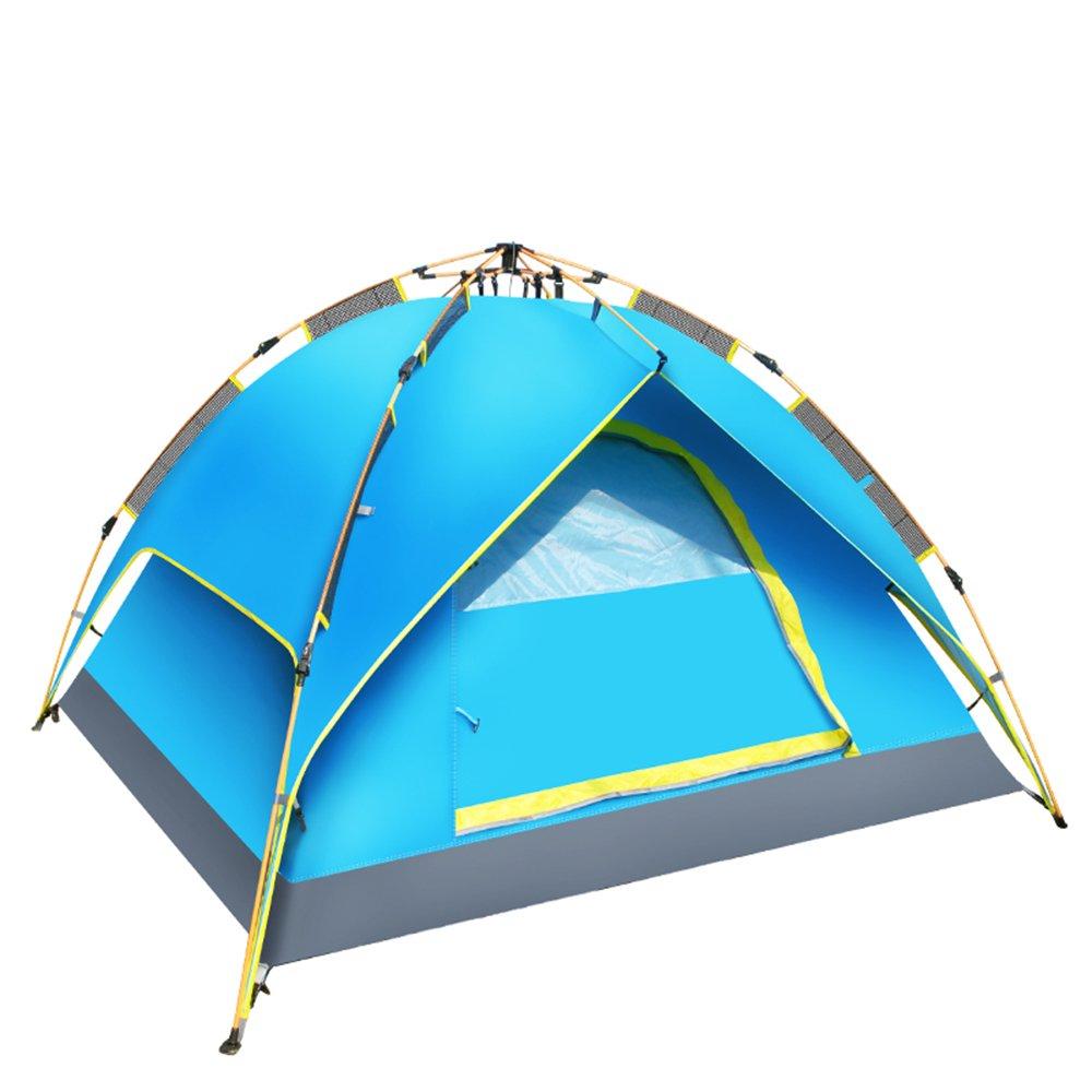 Schnelles Zelt - wasserdicht und belüftet und langlebig - kann in blau, grün - perfekt Camping, Wandern, Strand und kurze Wochenendausflüge eingesetzt werden