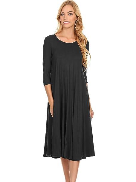d25fa3a837cc Modern Kiwi Long Sleeve Flowy Maxi Dress (S-4X) at Amazon Women s ...