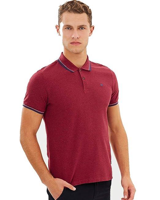 Ben Sherman Romford Polo Shirt Dark Red-XL: Amazon.es: Ropa y ...