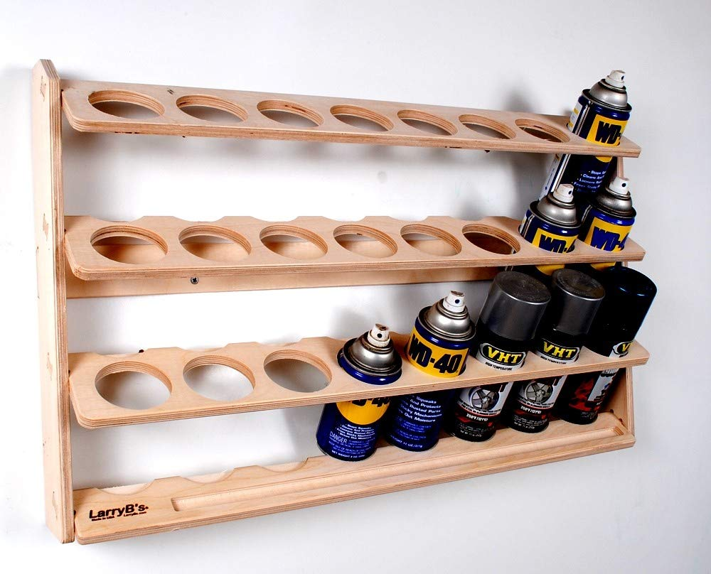 24 Can Spray Paint or Lube Can Wall Mount Storage Holder Rack by LarryB's