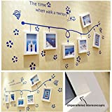 6Boxes/set Hot new wall wood photo frame combination wood frame and wall sticker Aegean Sea Wall Home Decorations