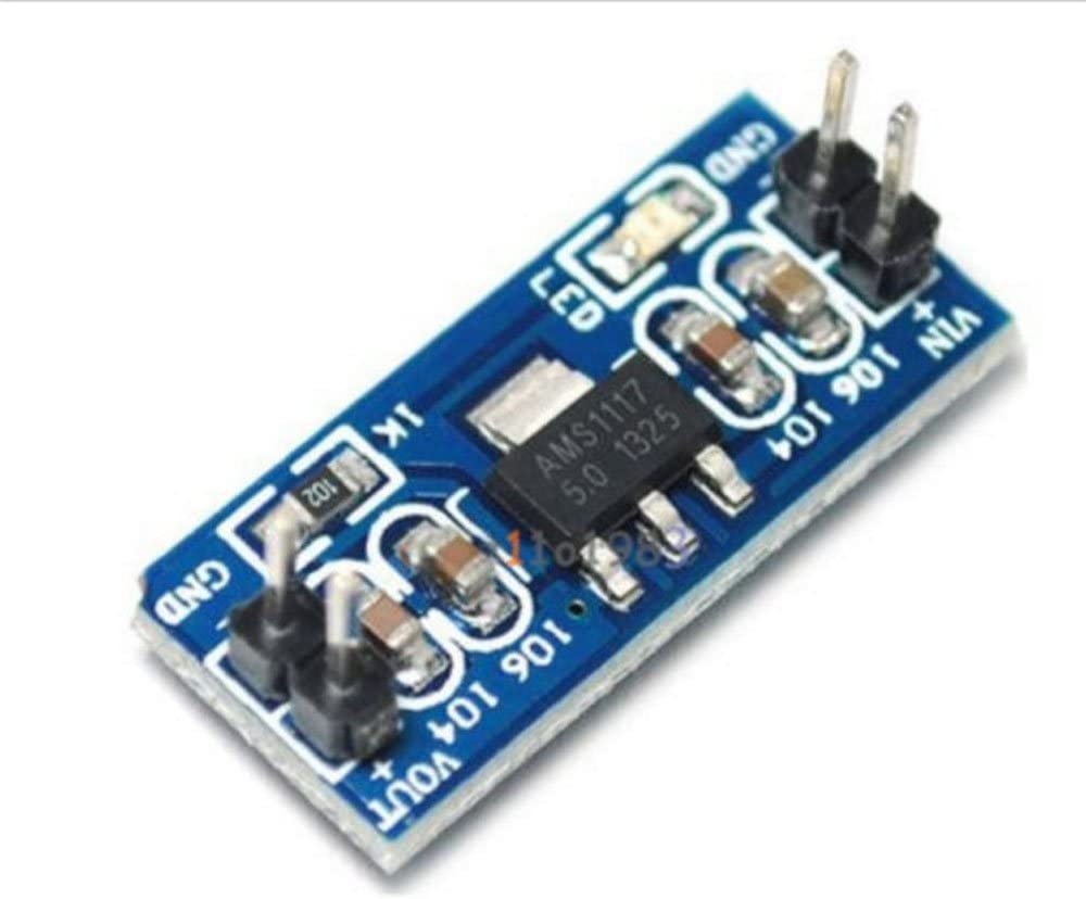 5Pcs Standard 6.0V-12V to 5V AMS1117-5.0V Power Supply Module AMS1117-5.0 for Arduino Raspberry Pi PCB Board