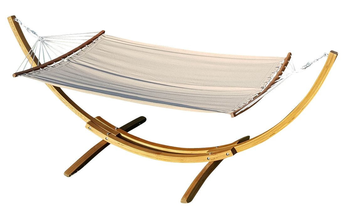 360 cm XL luxury Hammock stand filled with hammock frame larch with Hammock and pillows GRENADA AS-S