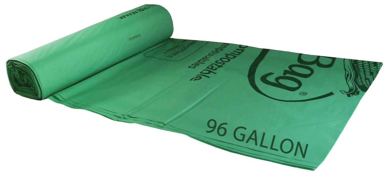 BioBag Compostable Bags - 96 Gallon Trash Can Liners - 60 bags