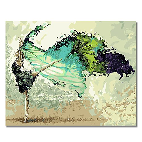BOSHUN 5D DIY Diamond Painting by Number Kits for Adults, Full Drill Cross Stitch Arts Craft for Home Wall Decor- Abstract Dancer(11.8X15.7inch/30X40cm)