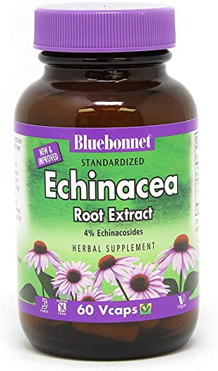 BlueBonnet Echinacea Root Extract Supplement, 60 Count