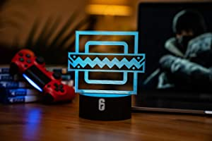 Six Siege LED Lamp - Frost Operator - Rainbow Six Siege Decor for The Bedroom or Gaming Studio - Color Changing LED Nightlight Great for Cosplay Photoshoots with Any R6 Character