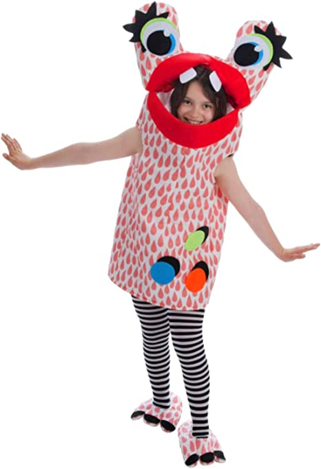 Nines dOnil Disfraz de Monstruo Rojo con Topos para niña: Amazon ...