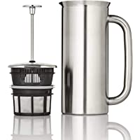 ESPRO P7 Double Walled Stainless Steel Vacuum Insulated Coffee French Press, 18 Ounce, Brushed Stainless Steel